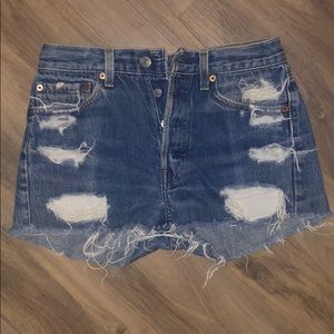 Vintage Levi's 501  Cutoff Jean Shorts